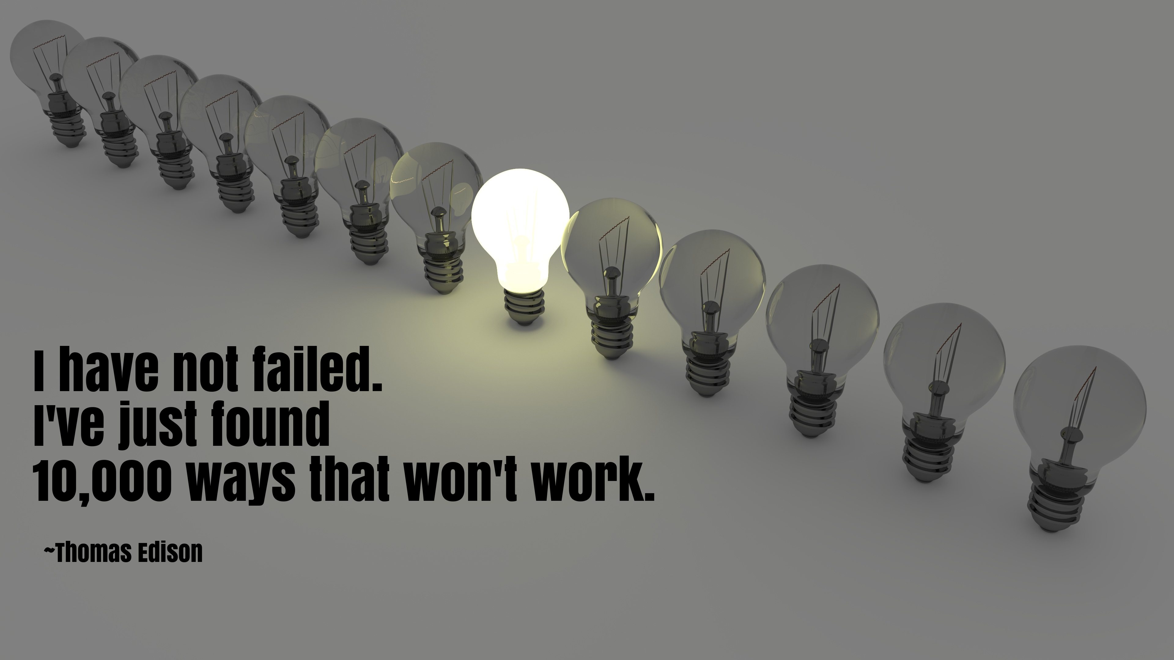 Failure Is Not An Option; PERIOD!
